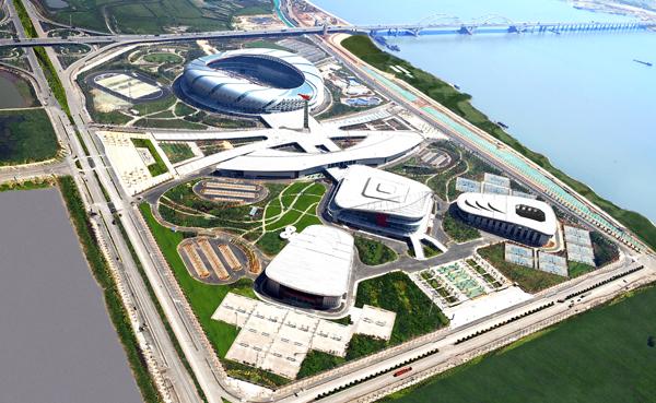为完善城市功能和承办2011年第七届城市运动会,南昌市规划建设南昌