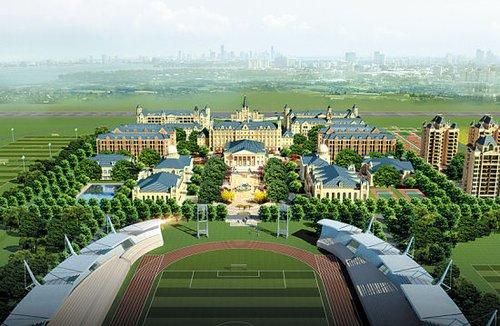 广州恒大公布足球学校设计效果图高清图片