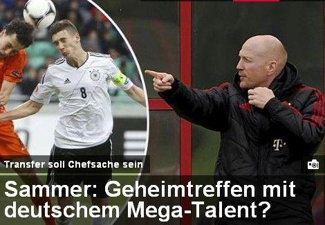 《慕尼黑日报》:萨默尔欲说服新星加盟拜仁